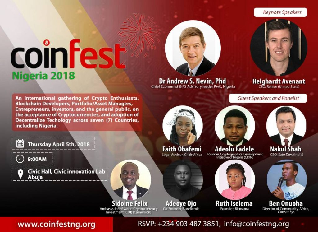CoinFest Nigeria 2018   Positioning Africa in the Crypto Spotlight